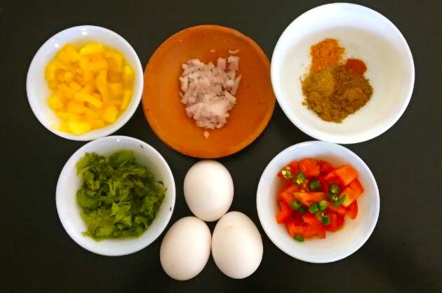 ingredients masala omelette