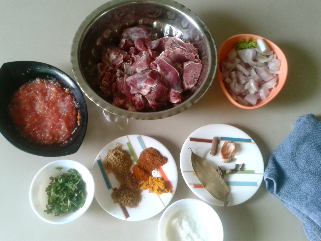 bhuna gosht ingredients