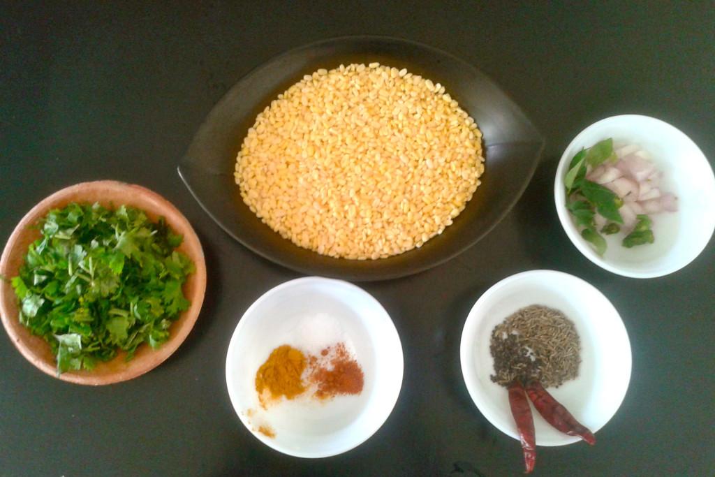 ingredients moong dal
