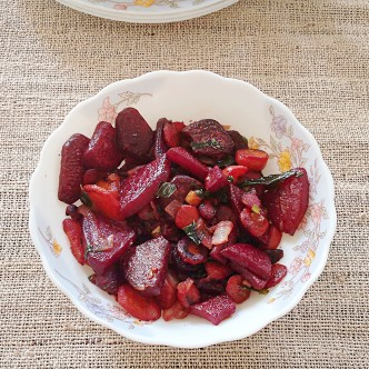 stir fry beets with carrots paleo recipe