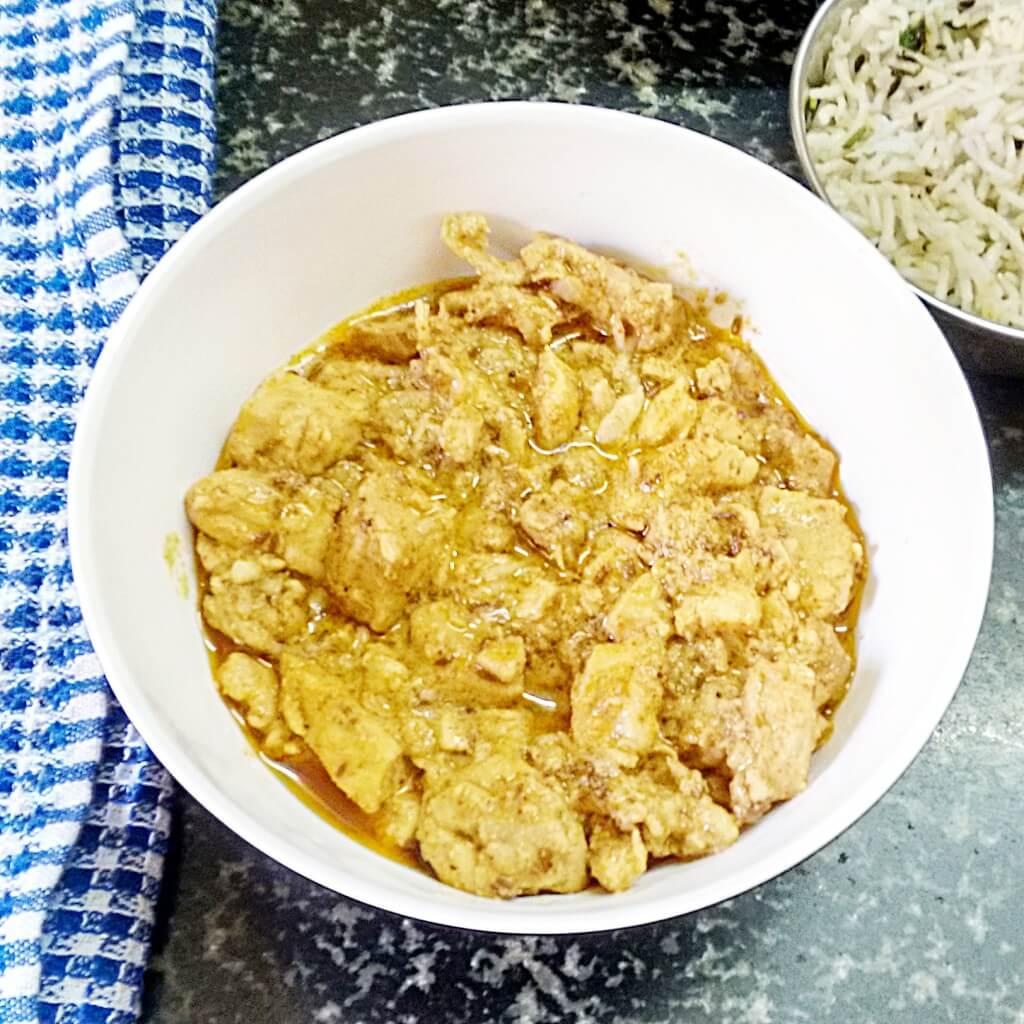 murgh lasooni - chicken garlic curry