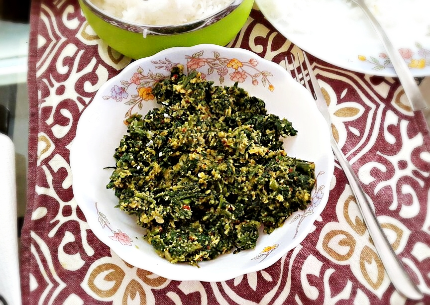 palak thoran cheera thoran recipe