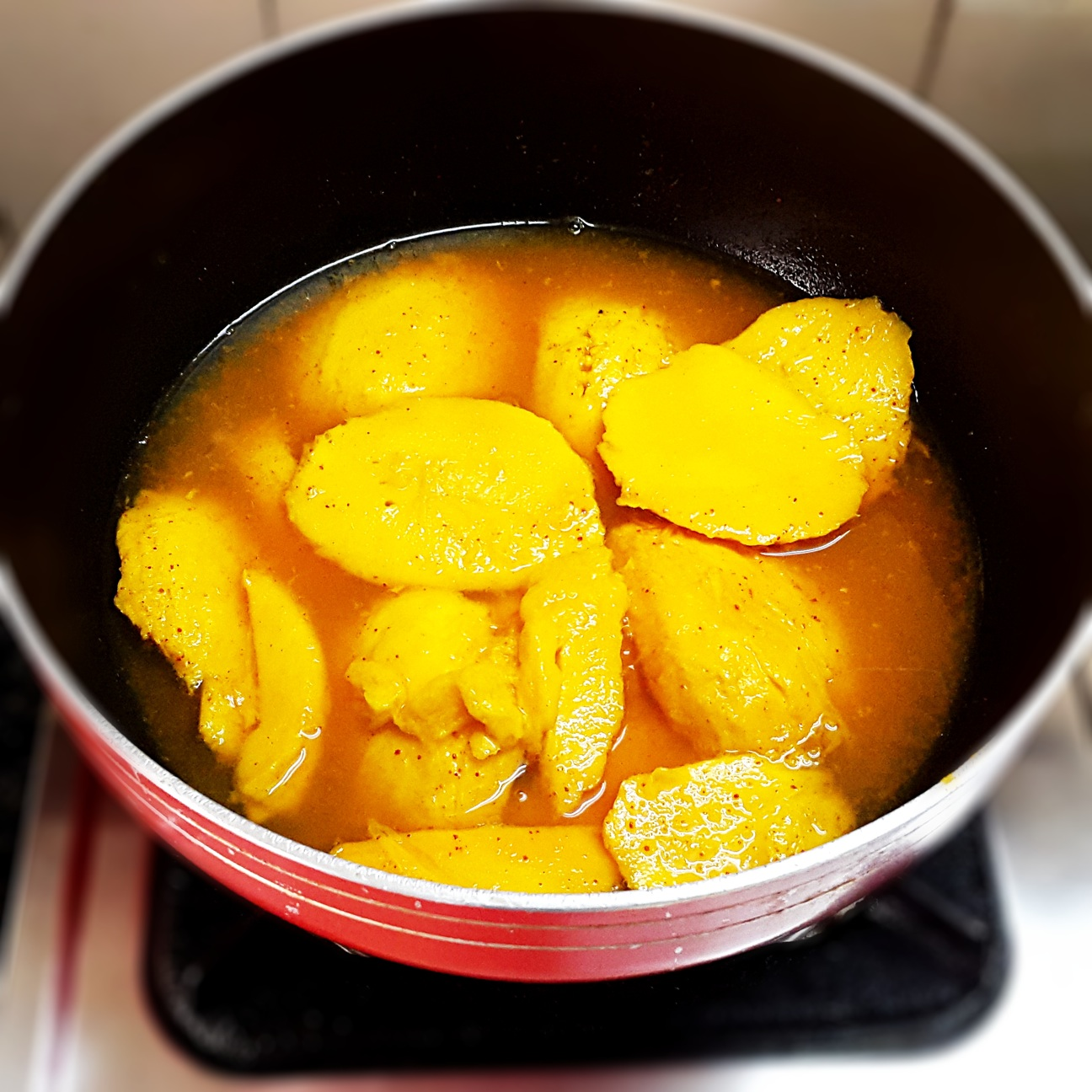 mango curry pazha manga recipe step by step