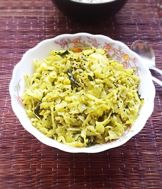 andhra cabbage stir fry