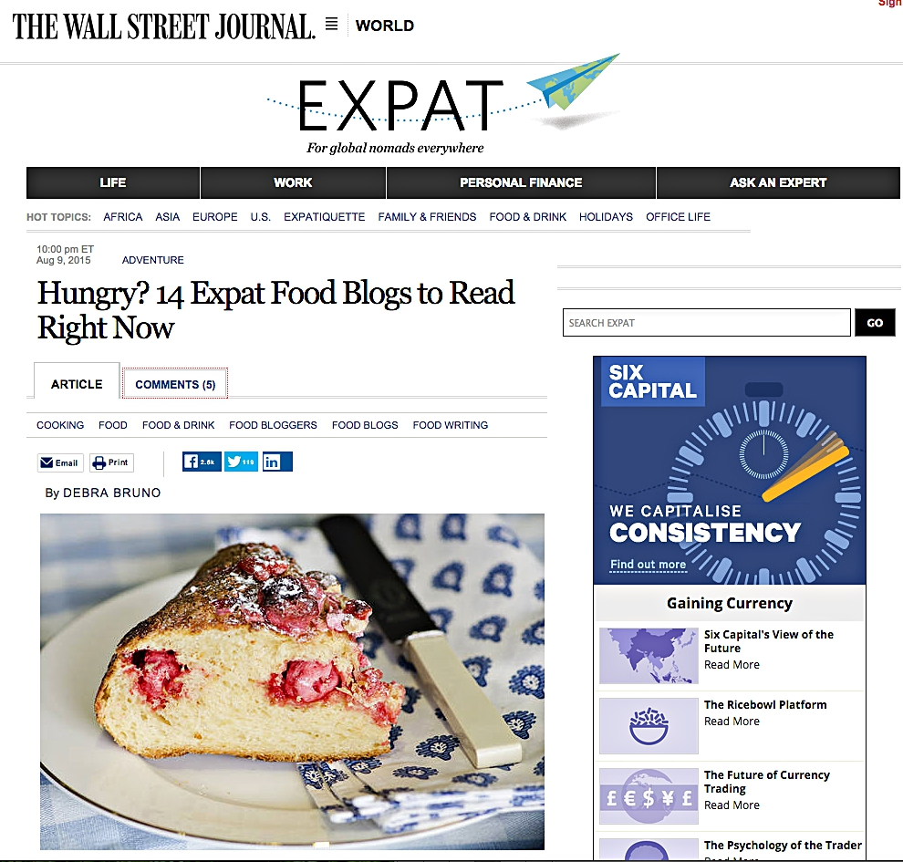 The Wall Street Journal Hungry? 14 Expat Food Blogs to Read Right Now