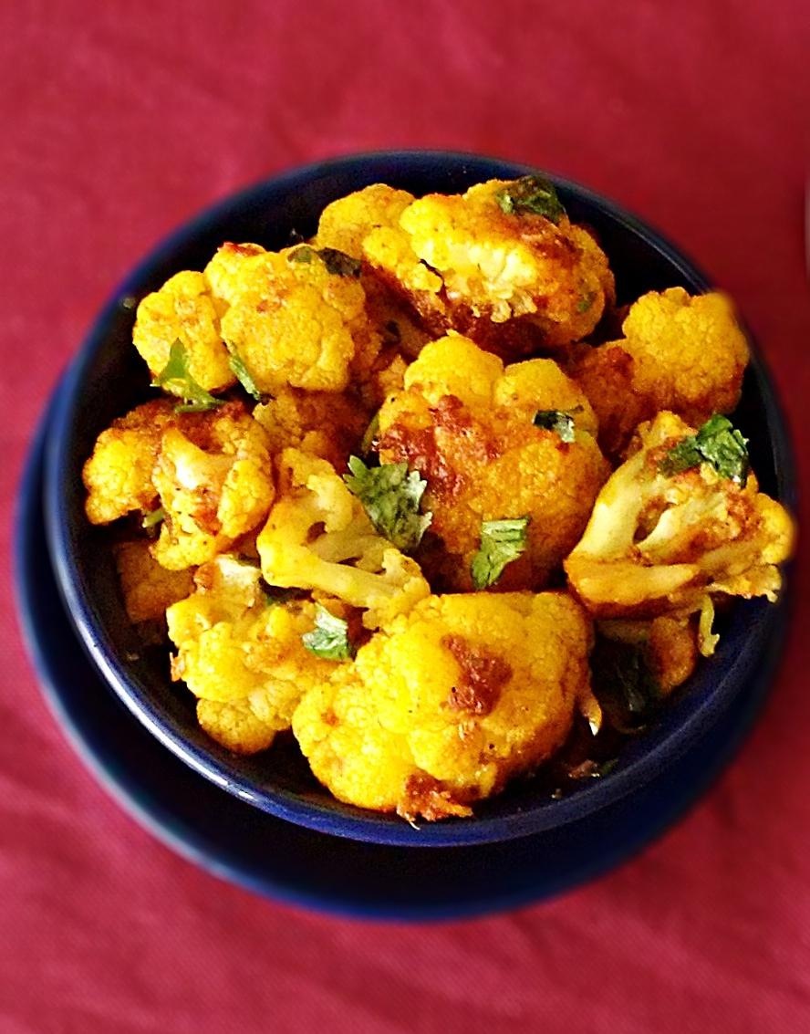 lasuni gobi recipe - cauliflower with garlic recipe